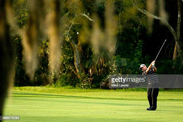 Brian Davis of England plays a shot from the second fairway during the second round of the Valspar Championship at Innisbrook Resort Copperhead...
