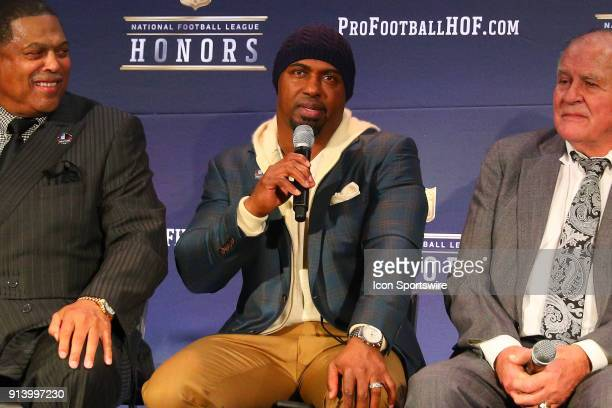 Brian Dawkins selected to the Pro Football Hall of Fame at NFL Honors during Super Bowl LII week on February 3 at Northrop at the University of...