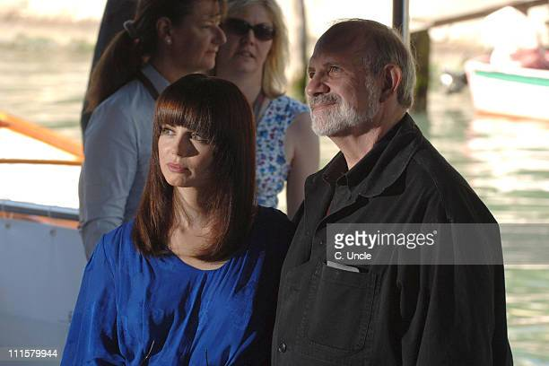 Brian De Palma director and Mia Kirshner during The 63rd International Venice Film Festival 'Black Dahlia' Press Conference Boat Arrivals at Palazzo...