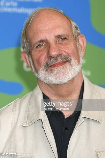 Brian De Palma during a photocall for their film 'Redacted' at the Venice Film Festival in Venice Italy