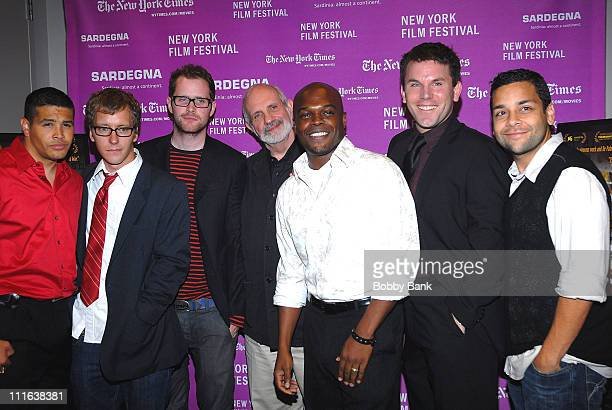 Brian De PalmaIzzy DiazDaniel Stewart ShermanPatrick CarrollTy JonesRob DevaneyKel O'Neil attend the 45th New York Film Festival premiere of Redacted...