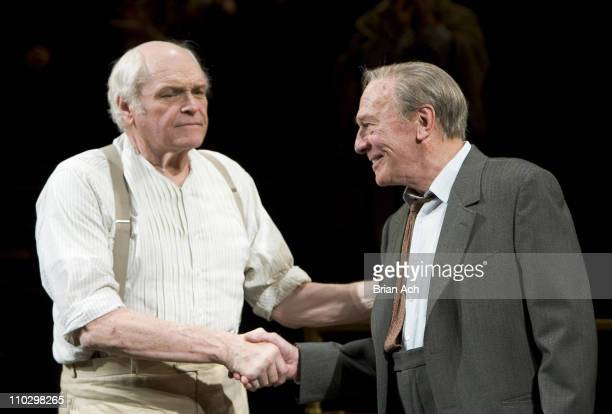 "Brian Dennehy and Christopher Plummer during ""Inherit the Wind"" Opening Night on Broadway - After Party at Bryant Park Grill in New York City, New..."