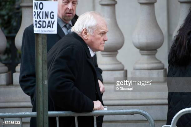 Brian Dennehy attends the funeral service for actor Philip Seymour Hoffman at St. Ignatius Of Loyola on February 7, 2014 in New York City. Hoffman...