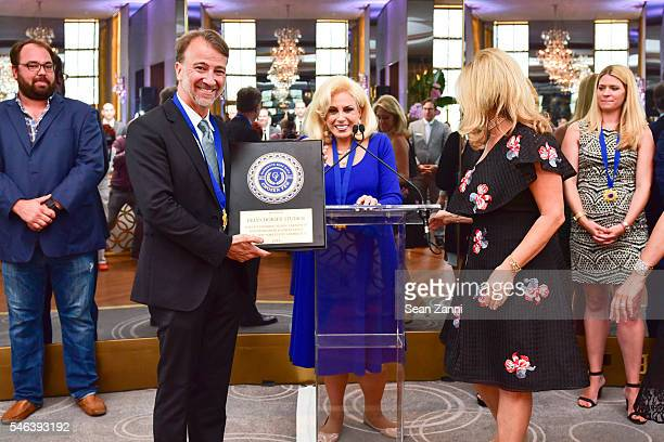 Brian Dorsey and Harriette Rose Katz attend Harriette Rose Katz Hosts The Second Anniversary of The Chosen Few at The Rainbow Room on July 11 2016 in...