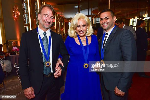 Brian Dorsey Harriette Rose Katz and Anthony Taccetta attend Harriette Rose Katz Hosts The Second Anniversary of The Chosen Few at The Rainbow Room...