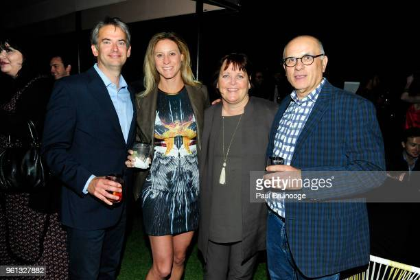 Brian Doubles Allison Doubles Margaret Keane and Jerry Ajdarovic attend The Cinema Society With Nissan FIJI Water Host The After Party For Solo A...