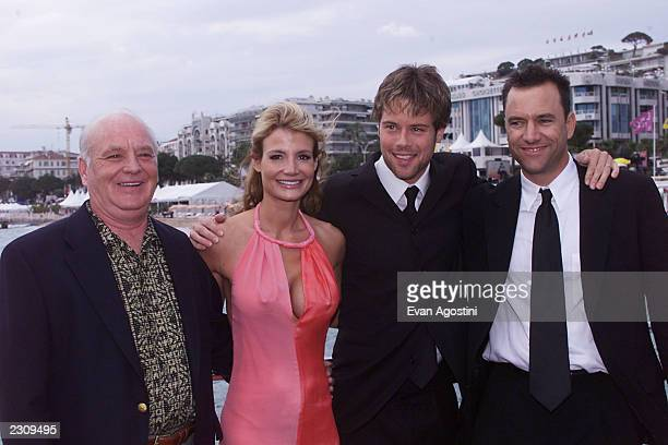 Brian Doyle Murray Delicia Lanza Brad Rowe and Director Tony Markes at a photo call for the film 'Getting Hal' during the 54th Cannes Film Festival...