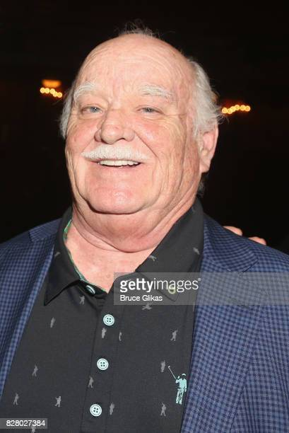 Brian Doyle Murray poses backstage at the hit musical based on the 1993 Bill Murray film Groundhog Day on Broadway at The August Wilson Theatre on...