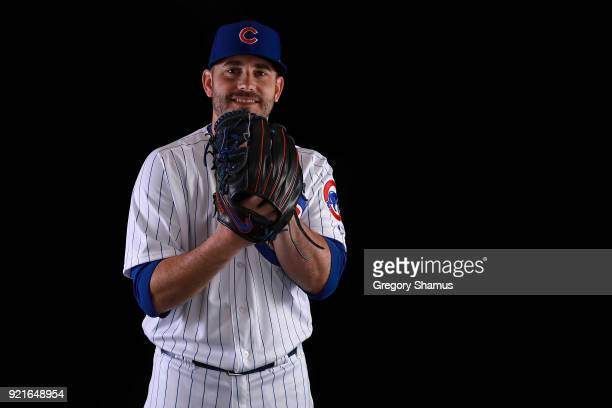 Brian Duensing of the Chicago Cubs poses during Chicago Cubs Photo Day on February 20 2018 in Mesa Arizona