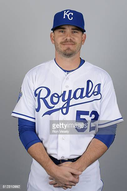 Brian Duensing of the Kansas City Royals poses during Photo Day on Thursday February 25 2016 at Surprise Stadium in Surprise Arizona