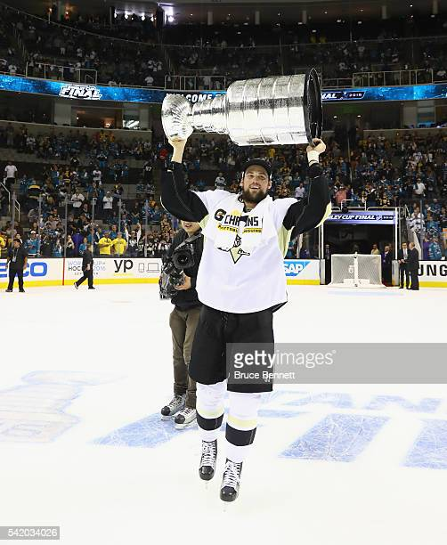 Brian Dumoulin of the Pittsburgh Penguins celebrates with the Stanley Cup after their 31 victory to win the Stanley Cup against the San Jose Sharks...