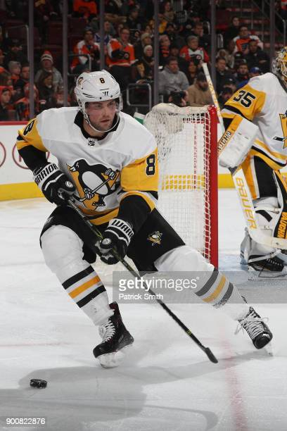 Brian Dumoulin of the Pittsburgh Penguins in action against the Philadelphia Flyers during the second period at Wells Fargo Center on January 2 2018...
