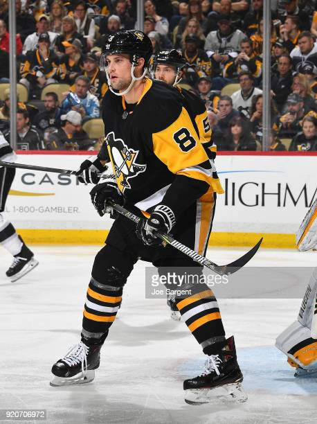 Brian Dumoulin of the Pittsburgh Penguins skates against the Los Angeles Kings at PPG Paints Arena on February 15 2018 in Pittsburgh Pennsylvania