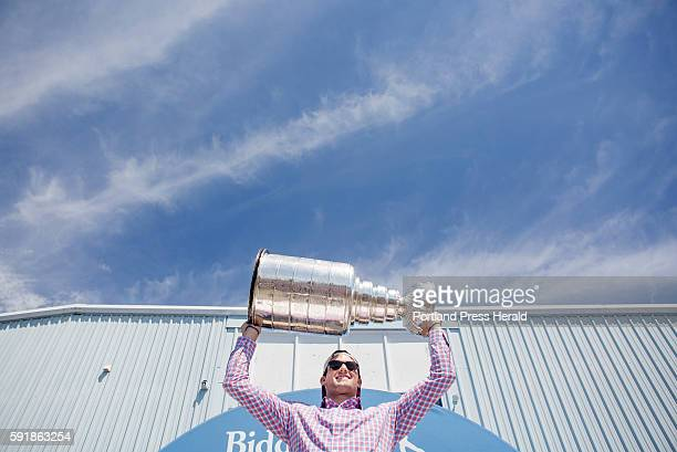 Brian Dumoulin with the 2016 the Stanley Cup outside of the Biddeford Arena where he grew up playing hockey Dumoulin is the first Maine native to win...