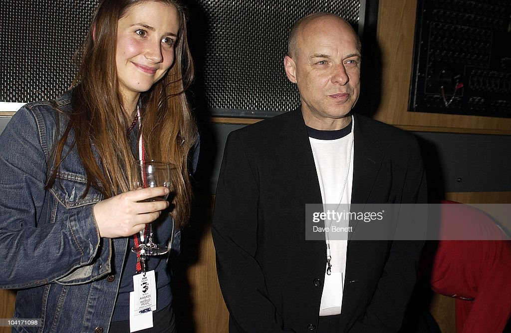 Brian Eno And Friend, Bbc Radio 3 Awards For The World Music At 'Ocean' In Hackney, London, Bands From All Over The World Turned Up To Get Their Awards.