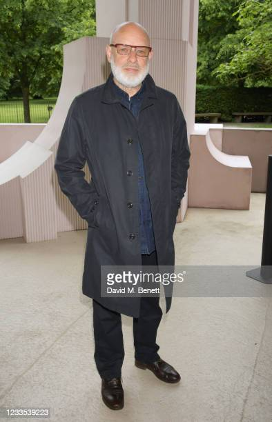 """Brian Eno attends """"Brian Eno: In A Garden"""", featuring his sound commission """"Back To Earth"""" in the 2021 Serpentine Pavilion at The Serpentine Gallery..."""