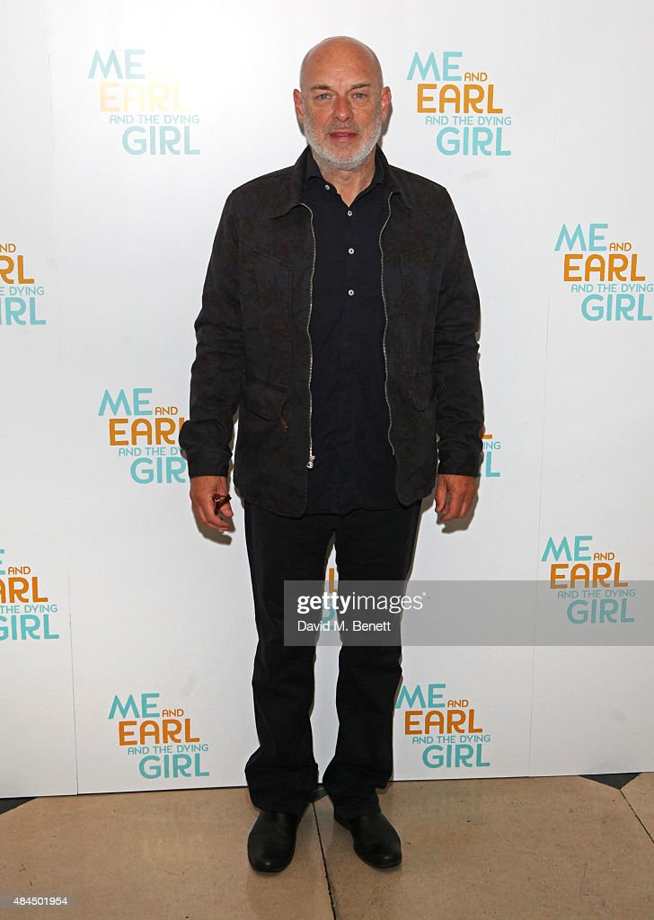 Brian Eno attends the UK Premiere of 'Me And Earl And The Dying Girl' during Film4 Summer Screenings at Somerset House on August 19, 2015 in London, England.