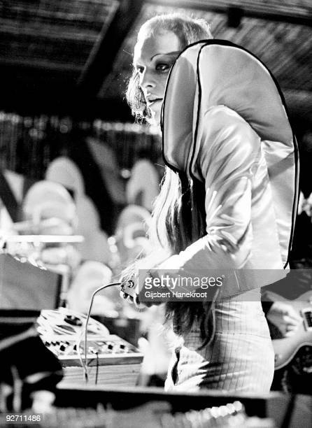 Brian Eno performs live with Roxy Music at the Maison Des Congres Montreux Switzerland in May 1973