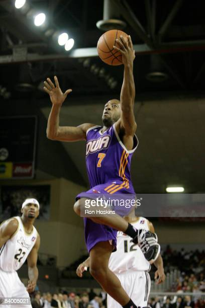 Brian Evans of the Iowa Energy lays the ball up on the Erie BayHawks at Tullio Arena on December 11 2008 in Erie Pennsylvania NOTE TO USER User...