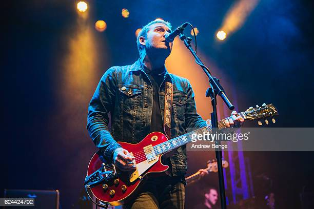 Brian Fallon of Brian Fallon The Crowes performs at O2 Academy Leeds on November 19 2016 in Leeds England
