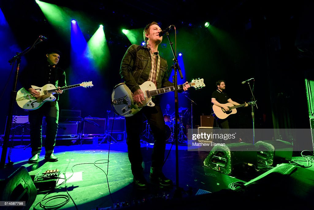 Brian Fallon performs live on stage at Irving Plaza on March 9, 2016 in New York City.