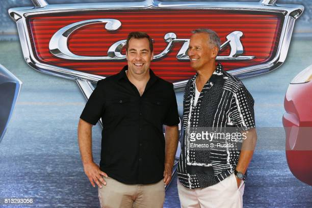 Brian Fee and Kevin Reher attend a photocall for Cars 3 at Hotel Parco Dei Principi on July 12 2017 in Rome Italy