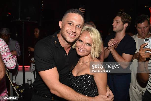 Brian Feit and Kristin Chenoweth attend Brian Feit's 40th Birthday Party at 550 West 29th Street on July 19 2018 in New York City