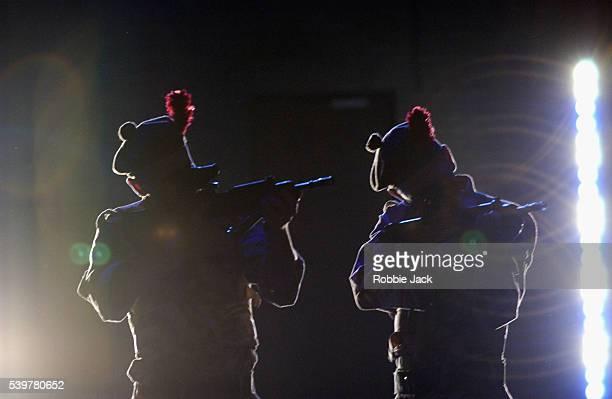 Brian Ferguson and Emun Elliott in the production Blackwatch