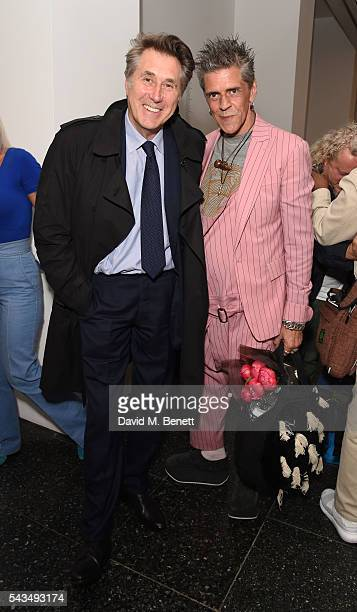 Brian Ferry and Judy Blame attend a VIP private view of Judy Blame Never Again and Artistic Difference at the ICA on June 28 2016 in London England