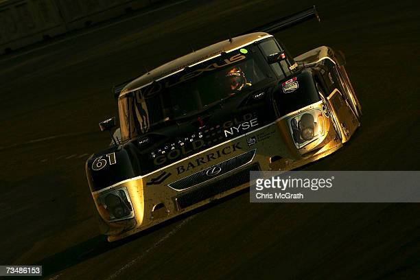 Brian Fisselle and Mark Wilkens drive the AIM Autosport Lexus Riley during the GrandAm Rolex Sports Car Series race on March 3 2007 at the Autodromo...