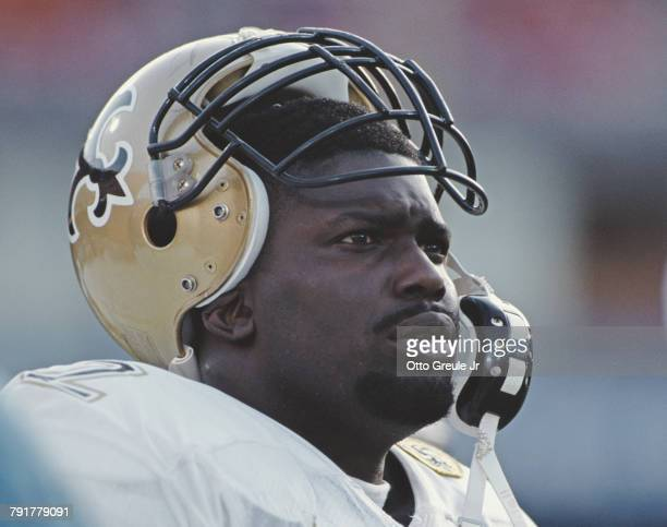 Brian Forde Linebacker for the New Orleans Saints during the National Football Conference West game against the San Francisco 49ers on 1 December...