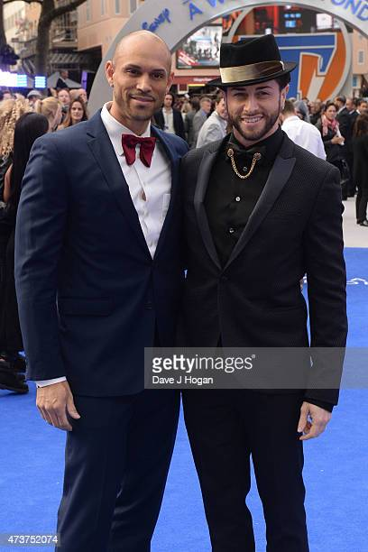 Brian Friedman and Danny Brown attend the Tomorrowland A World Beyond European premiere at Leicester Square on May 17 2015 in London England