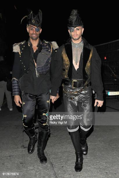 Brian Friedman attends the Death Of A Geisha VIP Halloween Party on November 1 2014 in London England