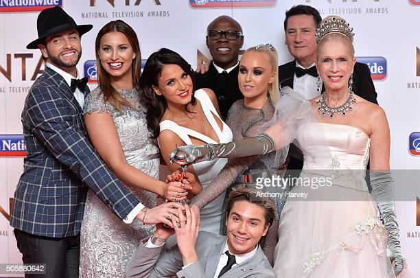 Brian Friedman Ferne McCann Vicky Pattison Chris Eubank Jorgie Porter George Shelley Tony Hadleu and Lady Colin Campbell pose with their award for...