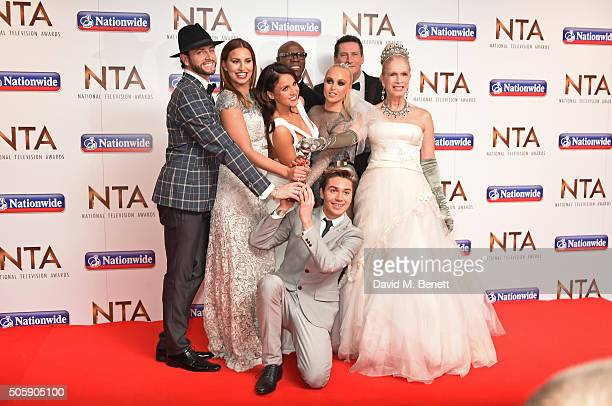 Brian Friedman Ferne McCann Vicky Pattison Chris Eubank Jorgie Porter George Shelley Tony Hadley and Lady Colin Campbell accept the Entertainment...