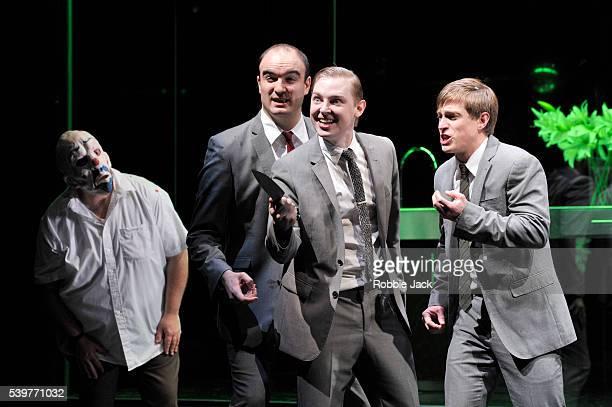 Brian Galliford as Irus Francisco Javier Borda as Antinous Iestyn Morris as Peisander and Samuel Boden as Amphionous in English National Opera's...