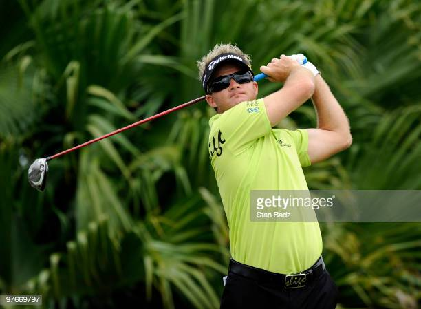 Brian Gay hits a drive during the second round of the World Golf Championships-CA Championship at Doral Golf Resort and Spa on March 12, 2010 in...