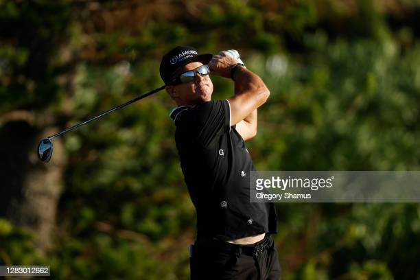Brian Gay of the United States plays his shot from the sixth tee during the second round of the Bermuda Championship at Port Royal Golf Course on...