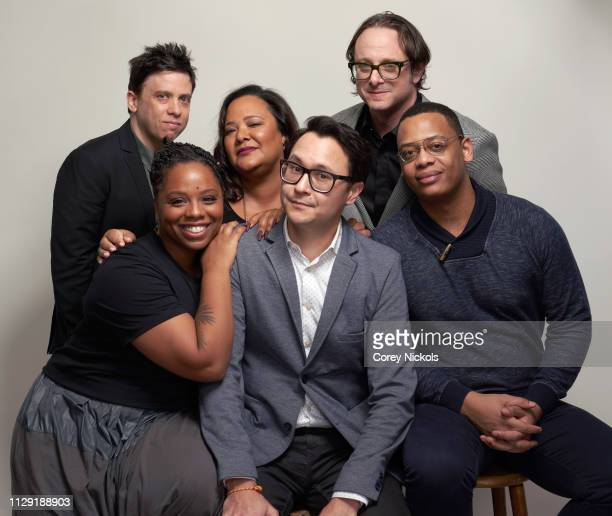 Brian Gewirtz Patrisse Cullors Dream Hampton Aaron Rice David Leepson and Kevin Hill of BET's 'Finding Justice' pose for a portrait during the 2019...