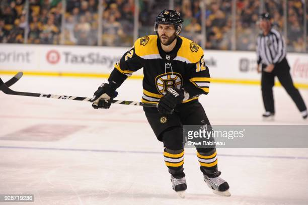 Brian Gionta of the Boston Bruins skates against the Detroit Red Wings at the TD Garden on March 6 2018 in Boston Massachusetts