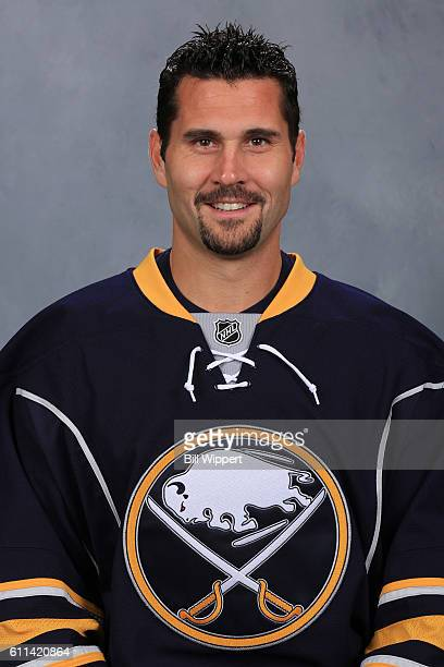Brian Gionta of the Buffalo Sabres poses for his official headshot of the 20162017 season on September 22 2016 at the KeyBank Center in Buffalo New...