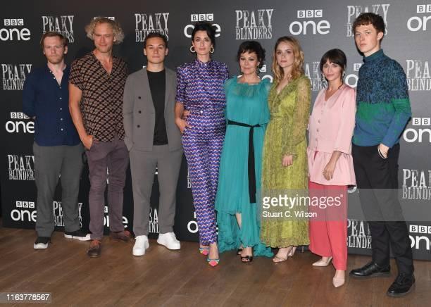 Brian Gleeson Elliot Cowan Finn Cole Natasha O'Keeffe Helen McCrory Sophie Rundle Charlene McKenna and Harry Kirton attend the Peaky Blinders BFI TV...