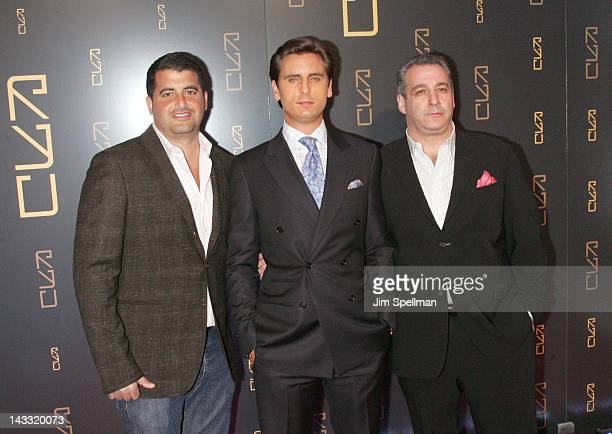 Brian Gold Scott Disick and Chris Reda attend the grand opening of RYU on April 23 2012 in New York City