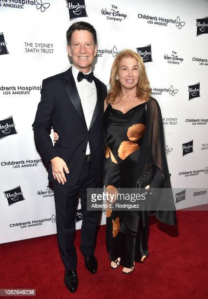 Brian Goldner and Willow Bay attend the 2018 Children's Hospital Los Angeles From Paris With Love Gala at LA Live on October 20 2018 in Los Angeles...