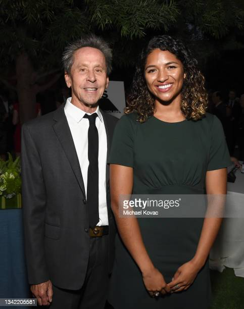 Brian Grazer and Anna Maria Dear attend the YES 20th Anniversary Gala on September 23, 2021 in Los Angeles, California.