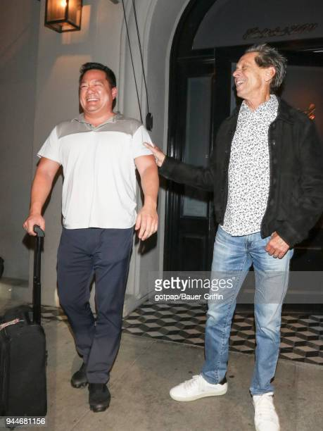 Brian Grazer and Benedict Wong are seen on April 10 2018 in Los Angeles California
