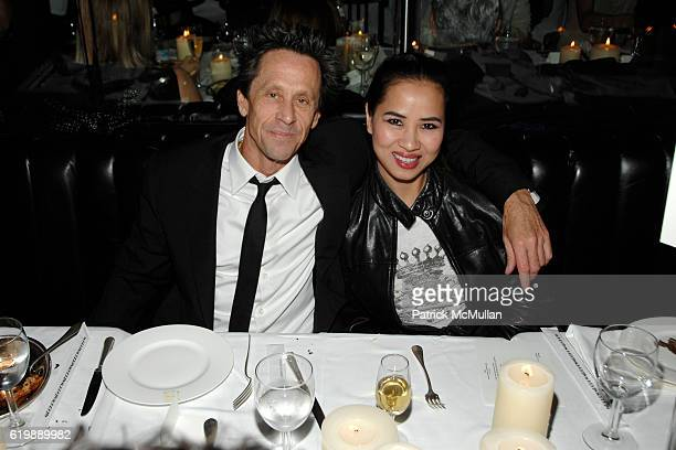 Brian Grazer and Chosan Nguyen attend GAGOSIAN GALLERY Private Dinner for JULIAN SCHNABEL at Mr Chow at Mr Chow on February 21 2008 in Beverly Hills...