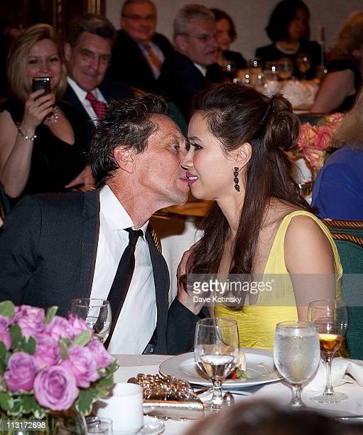 Brian Grazer and Chosan Nguyen attend the 3rd annual National Meningitis Association's Give Kids a Shot gala at the New York Athletic Club on April...