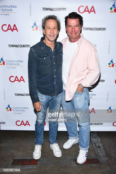 Brian Grazer and Eddie Braun attend Communities In Schools LA 'Lunch With a Leader' on October 19 2018 in West Hollywood California