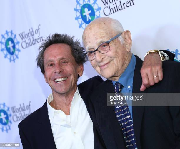Brian Grazer and Norman Lear attend the 2018 World of Children Hero Awards Benefit at Montage Beverly Hills on April 19 2018 in Beverly Hills...